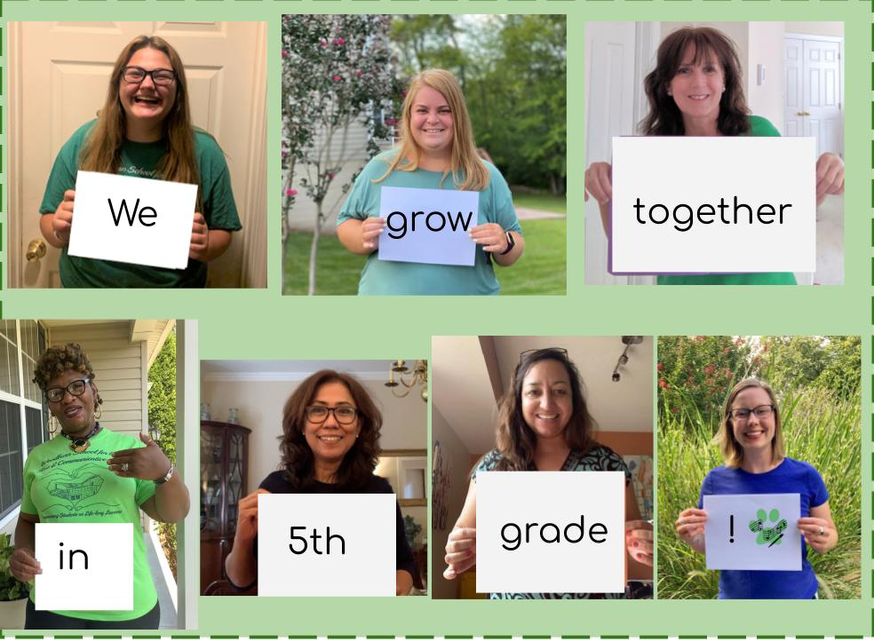 Welcome from the 5th grade teachers